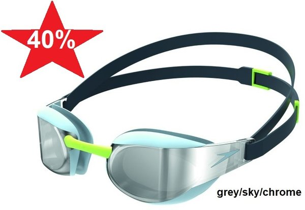 SPEEDO Fastskin Elite Mirror, grey sky chrome